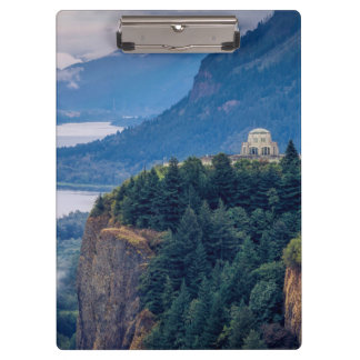 Early Morning View Of Vista House At Crown Point Clipboard