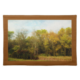 Early October Trees Landscape Placemat