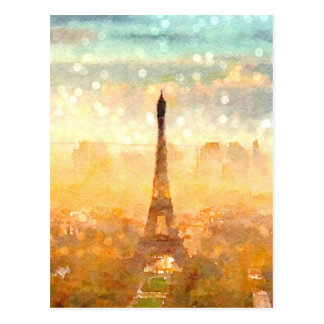 Early Paris Morning Postcard