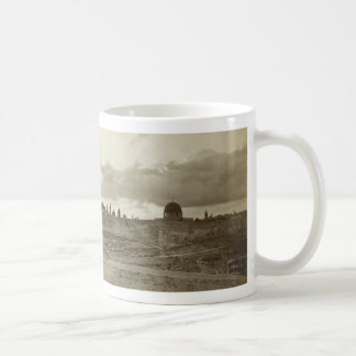 Early Picture of Jerusalem from the Southeast Basic White Mug