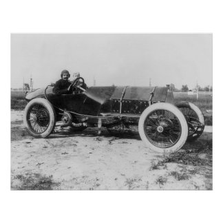 Early Race Car, 1913 Poster