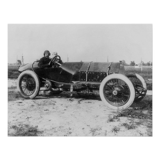 Early Race Car, 1913 Posters