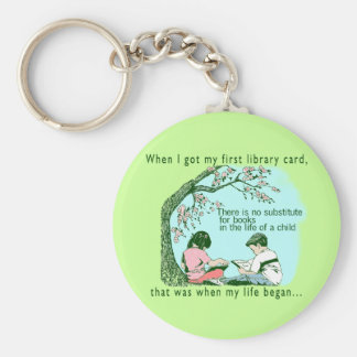Early Reading Basic Round Button Key Ring