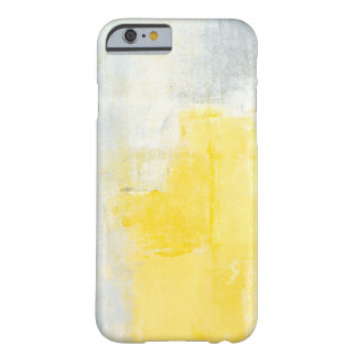 'Early Riser' Grey and Yellow Abstract Art Case Barely There iPhone 6 Case