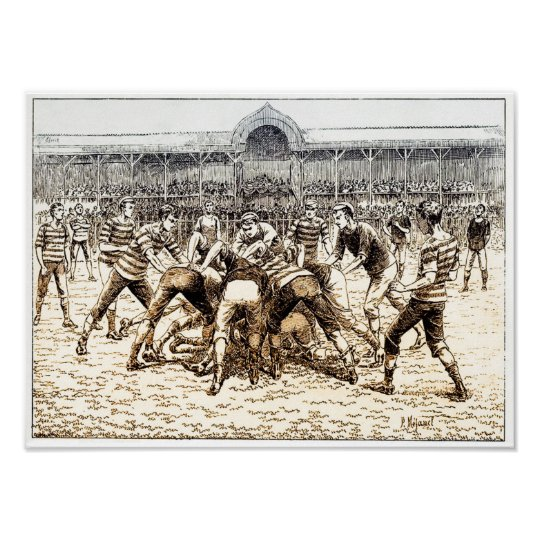 Early Rugby Game - Poster Print
