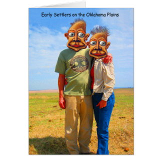 Early Settlers on the Oklahoma Plains Greeting Card