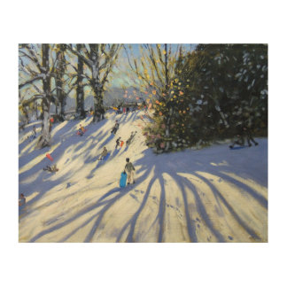 Early snow Darley Park Wood Print
