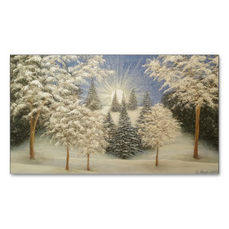 Early Snow Storm Magnetic Business Card