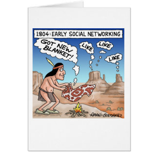 Early Social Networking Card