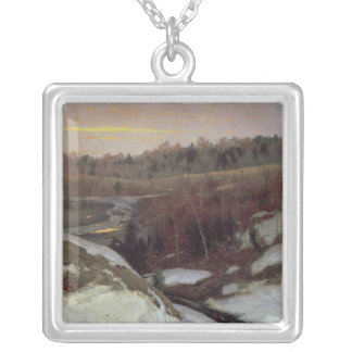 Early Spring, 1905 Silver Plated Necklace