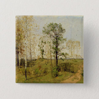 Early Spring at Weimar, 1876 15 Cm Square Badge