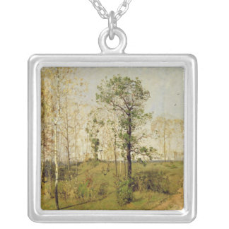 Early Spring at Weimar, 1876 Silver Plated Necklace