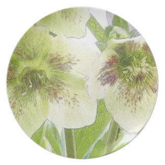 Early Spring Blooms - Hellebores! Plates