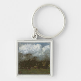 Early Spring, c.1868 Silver-Colored Square Key Ring
