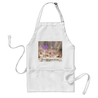 Early Spring Crocus Flower Adult Apron