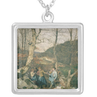Early Spring in the Vienna Woods Silver Plated Necklace