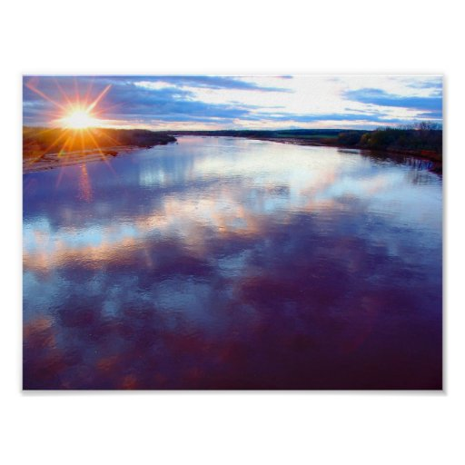 Early Spring Sunset, Cimarron River I (C) Poster