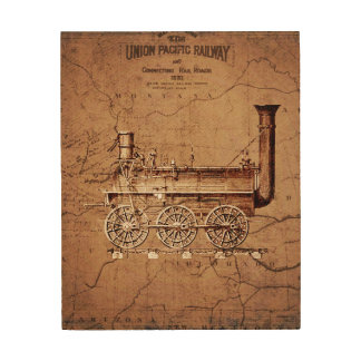 Early Steam Engine Wood Art