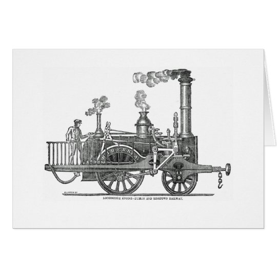 Early Steam Locomotive Card