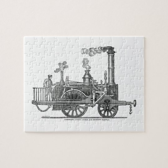 Early Steam Train Locomotive Jigsaw Puzzle