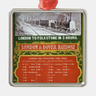 Early timetable for the London to Dover Railway Christmas Ornament
