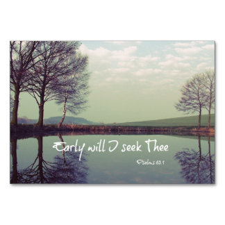 Early Will I seek Thee Bible Verse Card