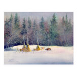 EARLY WINTER TIPI CAMP by SHARON SHARPE Post Cards