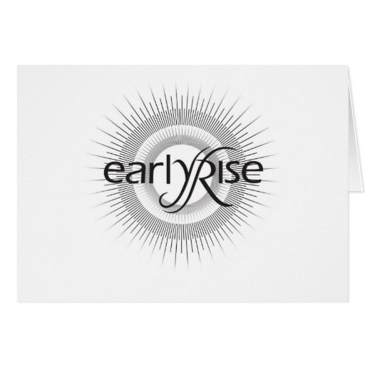 EarlyRise Design 2 Greeting Cards