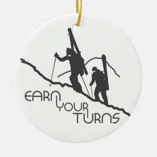 Earn Your Turns Christmas Ornament