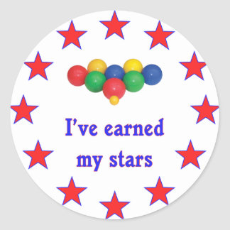 Earned My Stars Bocce Ball Round Sticker