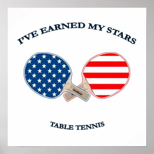 Earned My Stars Table Tennis Print