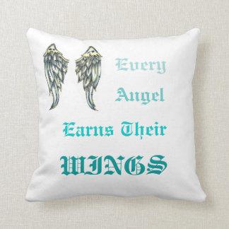 Earning Angel Wings Throw Cushion