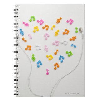 Earphone Spiral Notebook