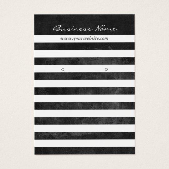 Earring Display Modern Black & White Stripes Business