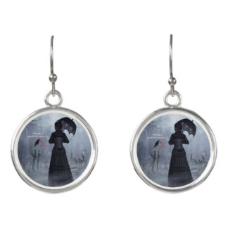 Earrings, Lady of Ashes, Death at Abbey Earrings