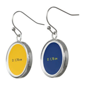 Earrings uni Yellow-Blue