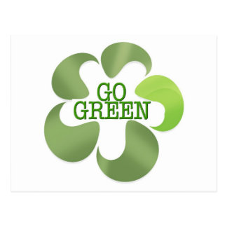 EART DAY GO GREEN POST CARD
