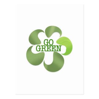 EART DAY GO GREEN POSTCARD