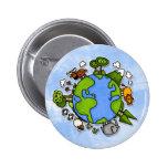 earth 6 cm round badge