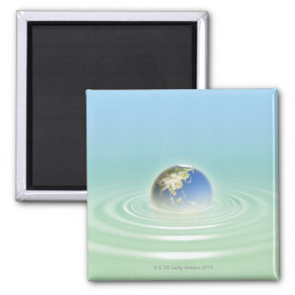 Earth 9 square magnet