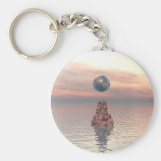 Earth Above The Sea Basic Round Button Key Ring