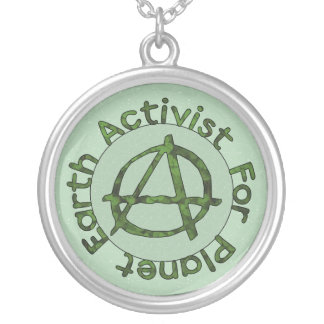 Earth Activist Silver Plated Necklace