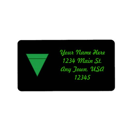 Earth Address Label