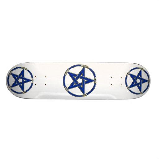 Earth, Air & Fire Pentagram Skateboard