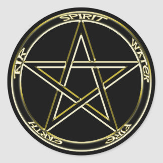 Earth, Air & Fire Pentagram Sticker
