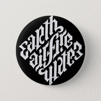 EARTH AIR FIRE & WATER 6 CM ROUND BADGE