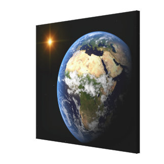 Earth and a Bright Star 2 Stretched Canvas Prints