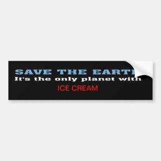 Earth and Ice Cream Bumper Sticker