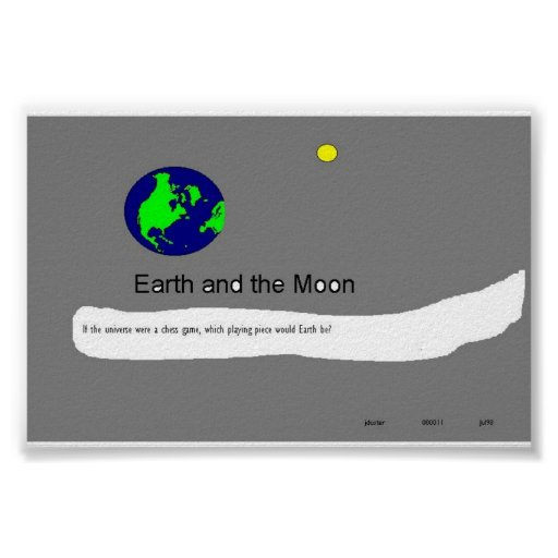 Earth and Moon #11 Poster