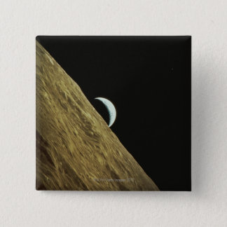 Earth and Moon 15 Cm Square Badge
